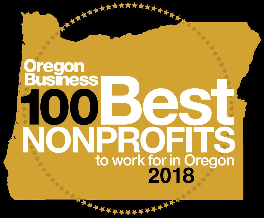 Oregon Business Top 100 Non-Profits Logo